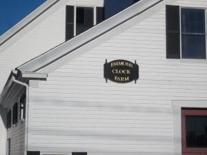 Plaque on Barn